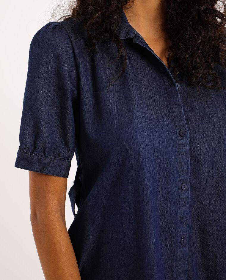 Robe chemisier en jean bleu brut