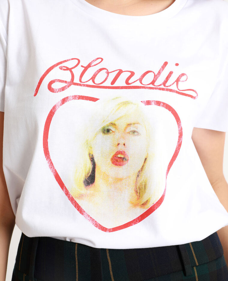 T-shirt Blondie blanc