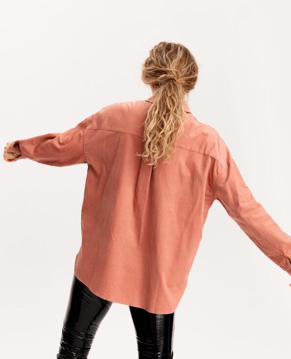 Hemd van velours oranje