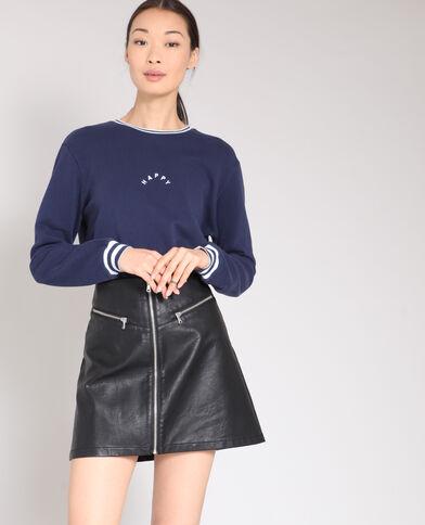 HAPPY-sweater marineblauw