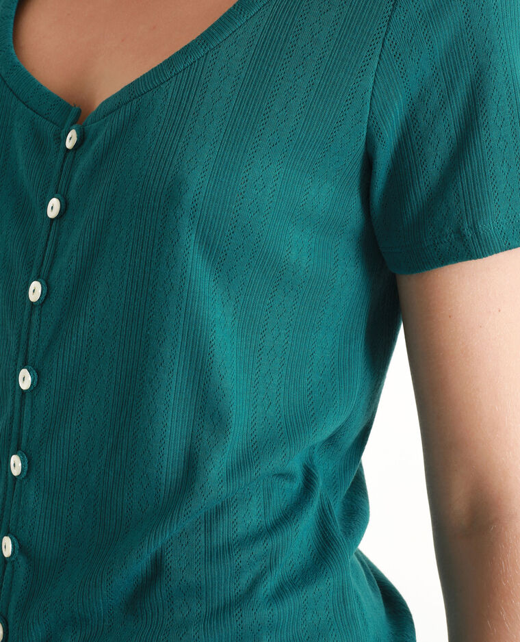 T-shirt à manches courtes bleu-vert