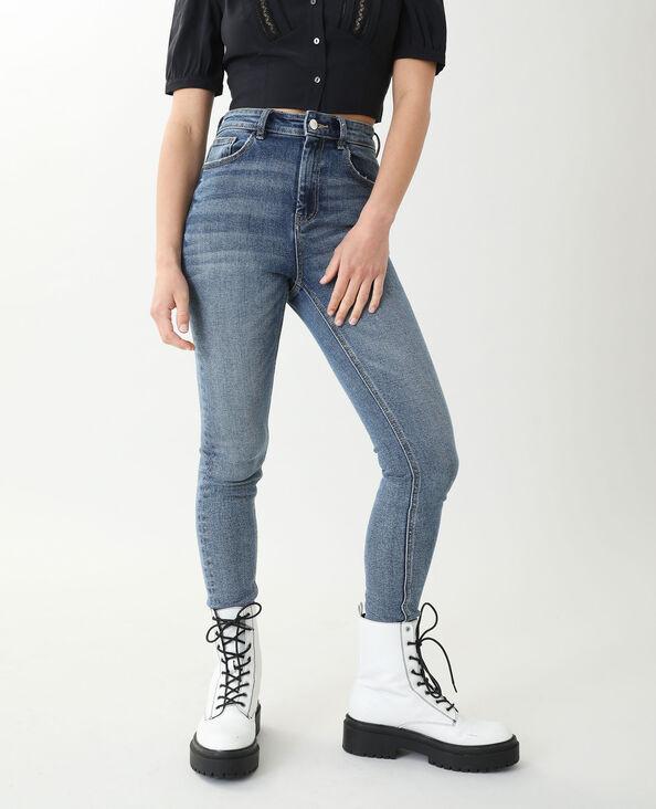 Skinny jeans met hoge taille denimblauw