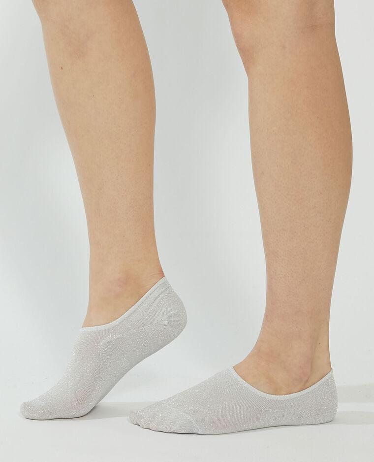 Set van 2 paar onzichtbare sokken groen - Pimkie
