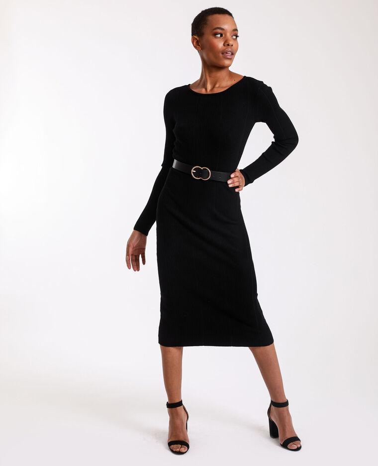 Robe longue en maille noir - Pimkie