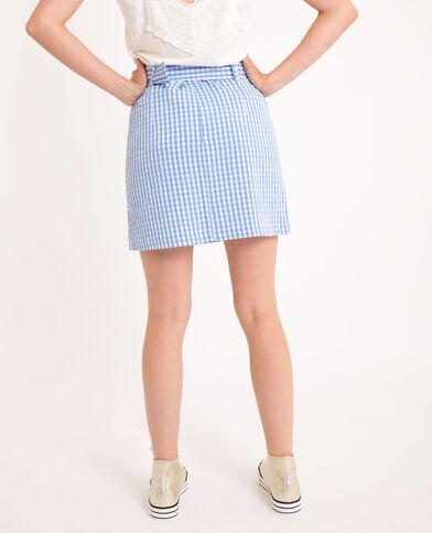 Korte rok met riem blauw