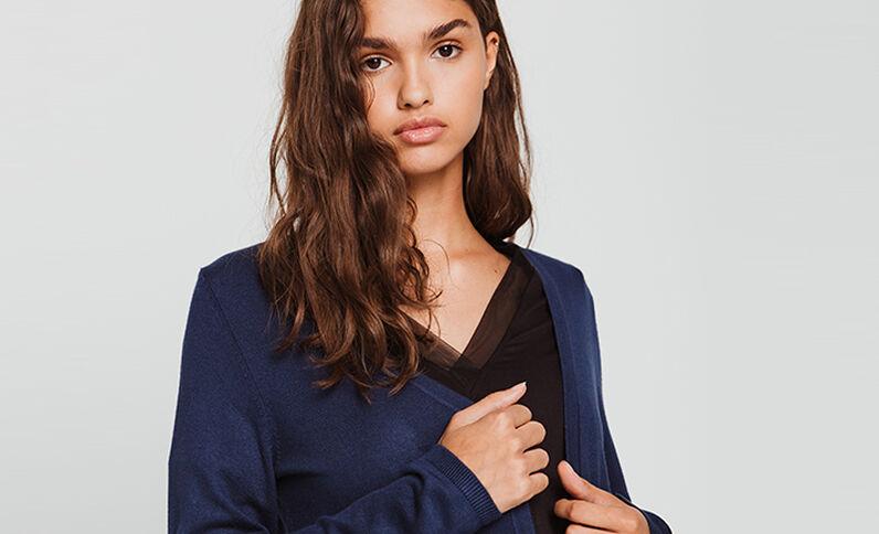 Vestje met knopen marineblauw