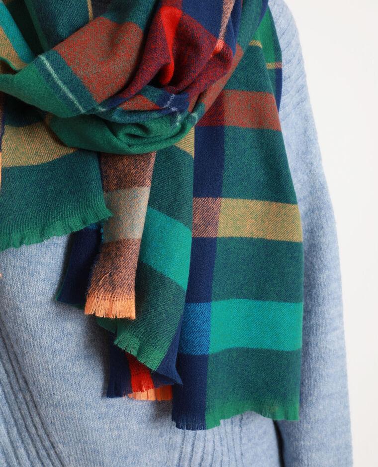 Geruite sjaal groen