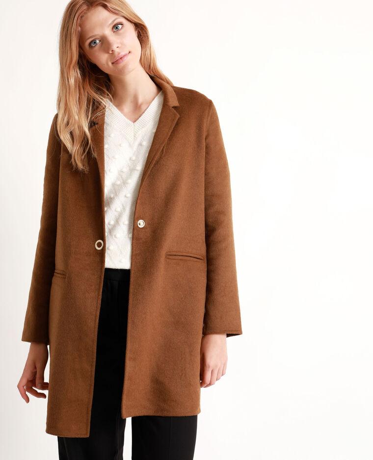 Manteau droit beige