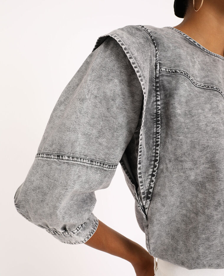Jeansblouse grijs - Pimkie