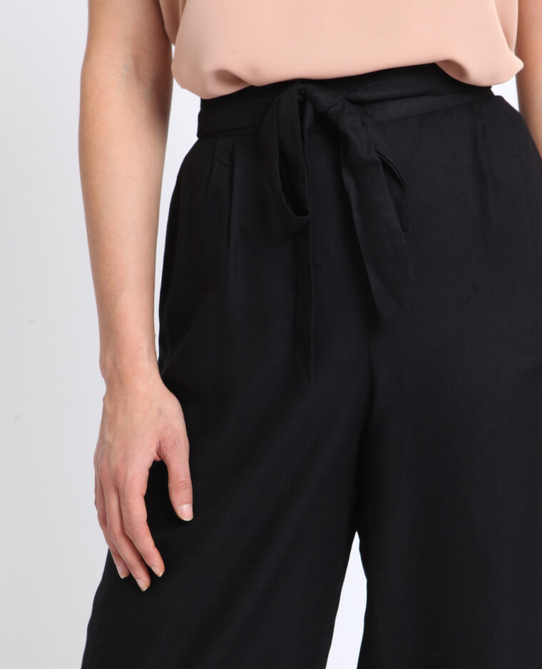Jupe culotte fluide noir