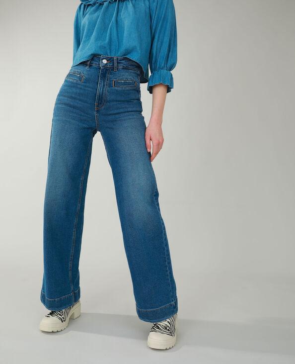 Jeans met brede pijpen denimblauw - Pimkie
