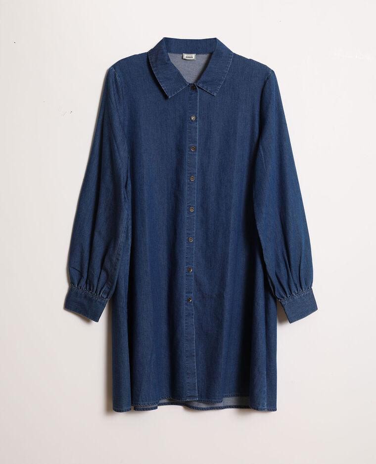 Hemdjurk van jeans denimblauw