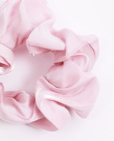 Chouchou satiné rose