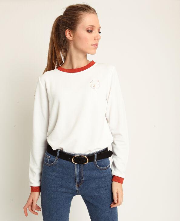 Tweekleurige sweater wit