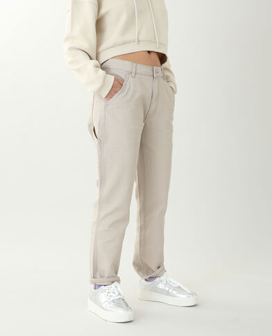 Rechte broek beige