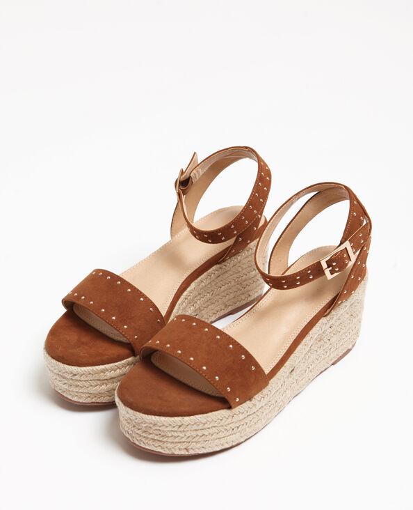Sandales plateforme marron