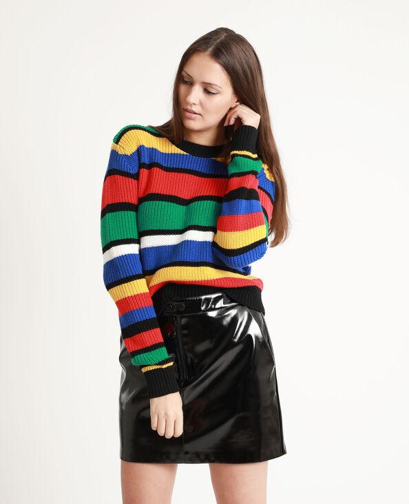 Veelkleurige trui zwart