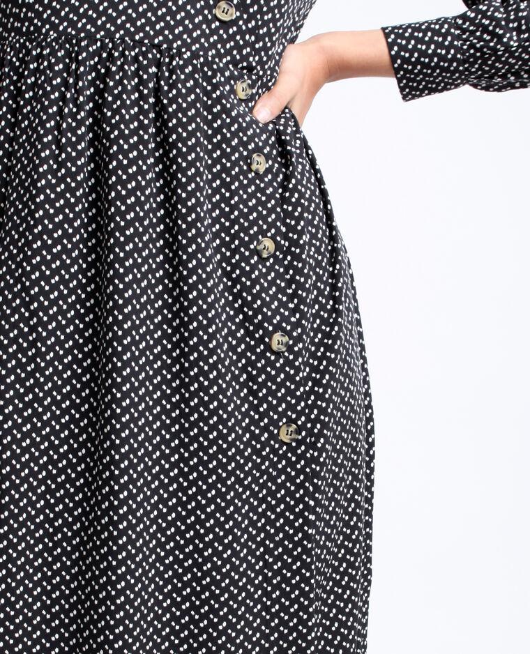 Robe longue boutonnée noir