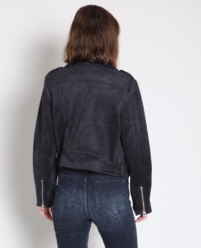 Veste perfecto suédine noir