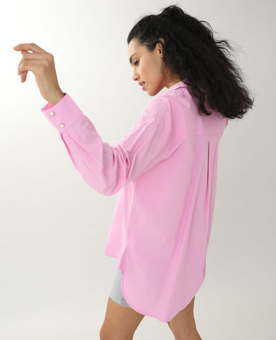 Lang hemd roze