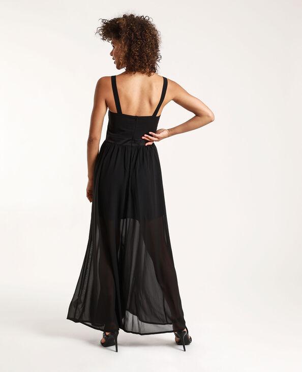 Lange jurk Stéphanie Durant x Pimkie zwart