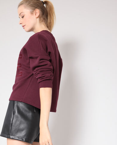 Cropped sweater bordeauxrood