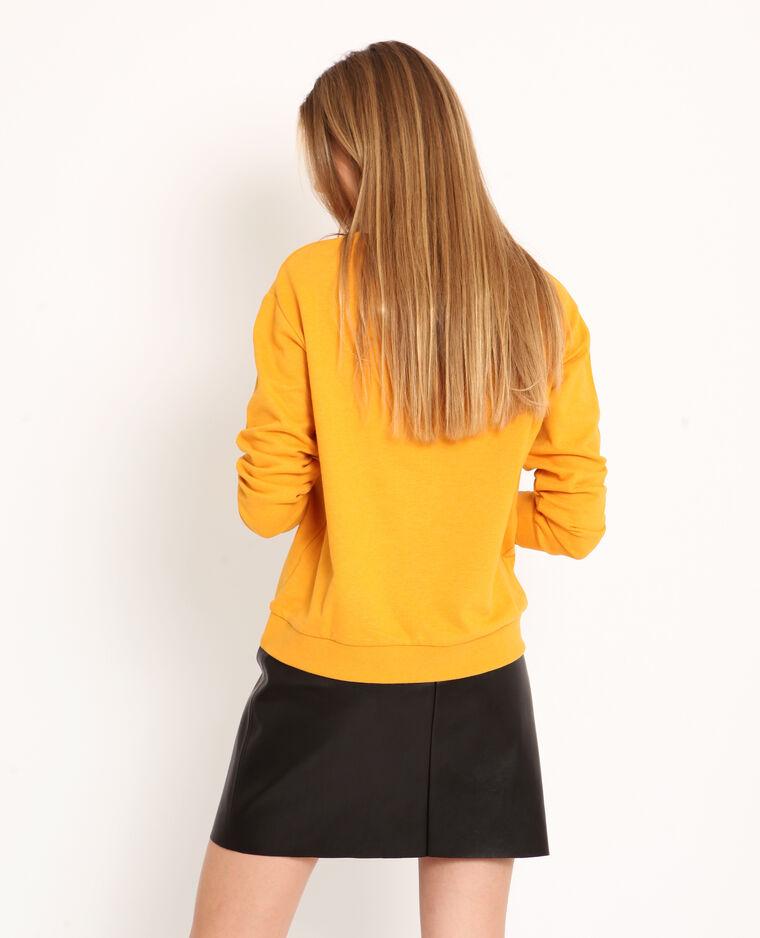 Sweater met tekst geel