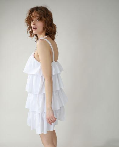 Robe volantée blanc - Pimkie