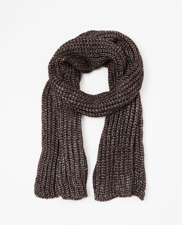 Sjaal van tricot zwart