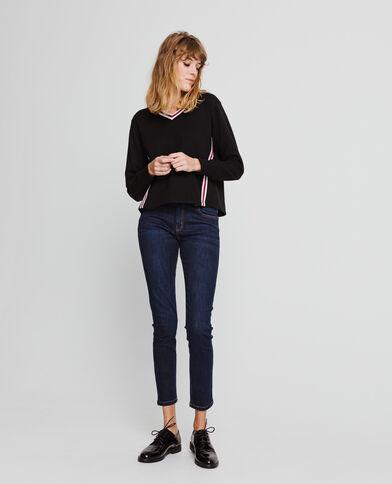Sweater met V-hals zwart