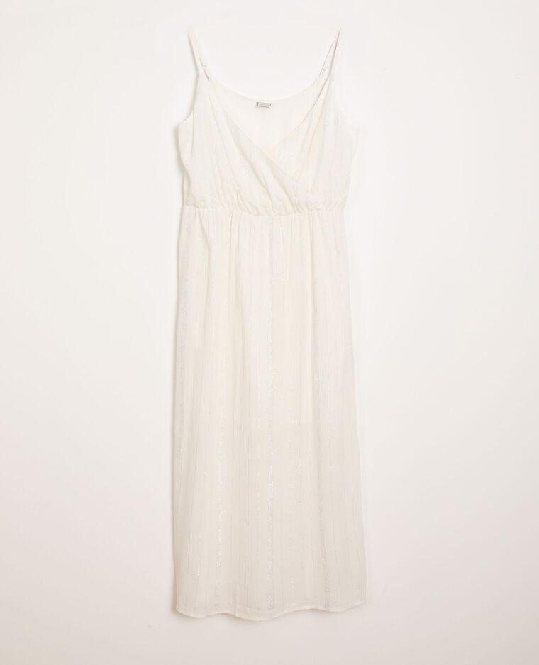 Robe à fines bretelles blanc
