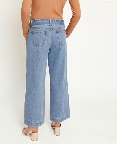 Jeans met brede pijpen verwassen blauw