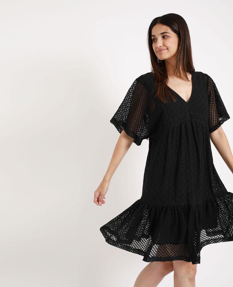 Verwonderlijk Kanten jurk zwart - 781281899A08 | Pimkie HP-13