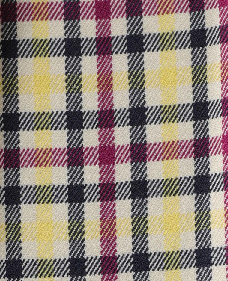 Jupe plissée à carreaux jaune - Pimkie