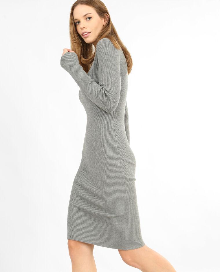 Robe pull moulante gris chiné - 780759830A08   Pimkie 388517422214