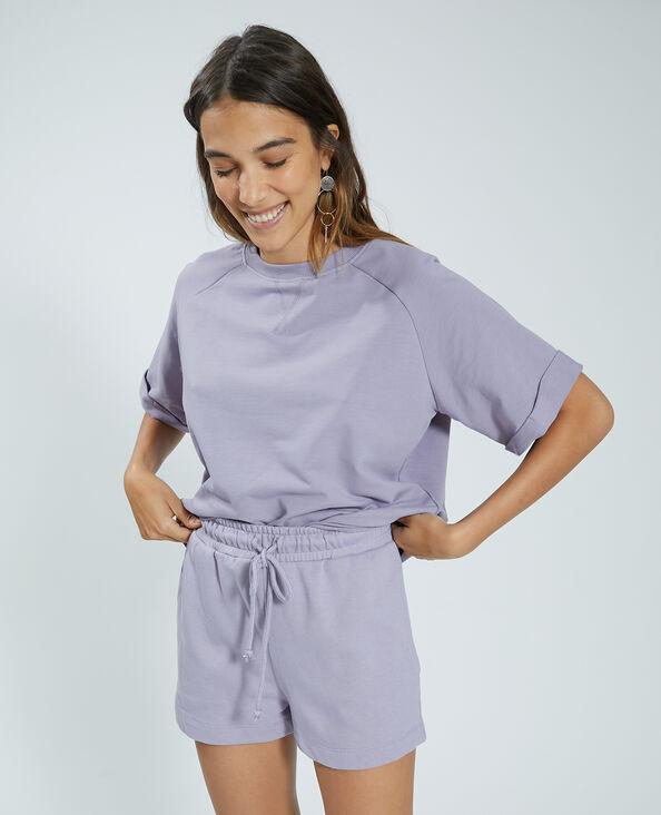 Sweat manches courtes violet - Pimkie