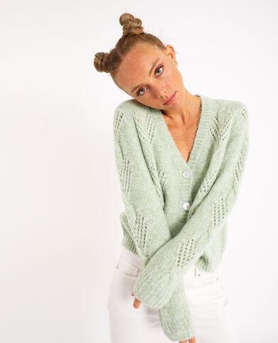 Vest met kabelpatroon groen