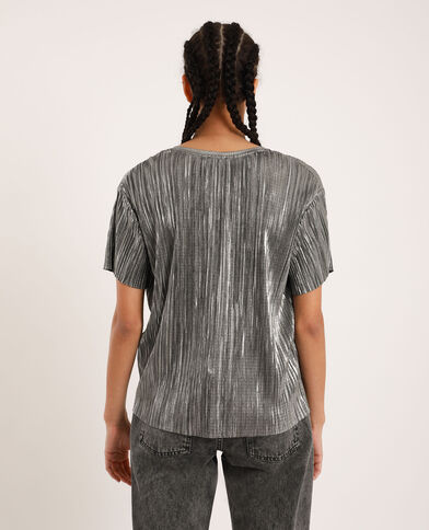 T-shirt brillant gris