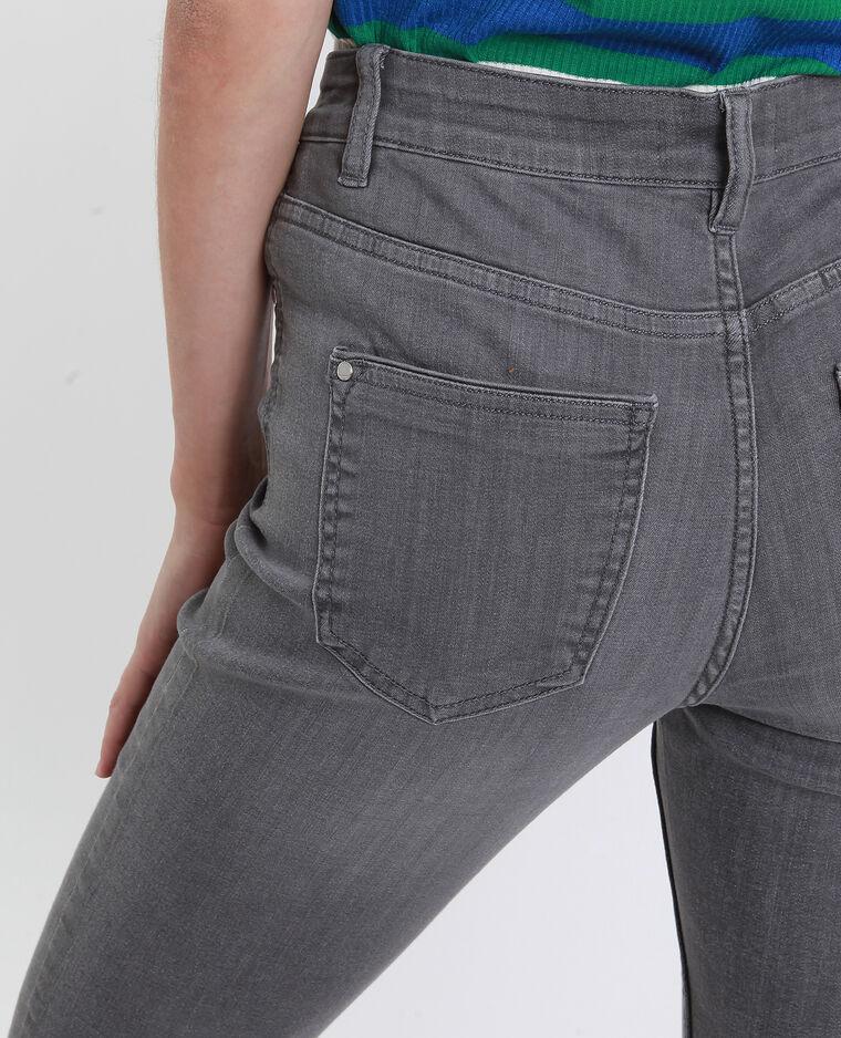 Skinny jeans met middelhoge taille grijs