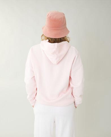 Oversized hoodie van molton roze