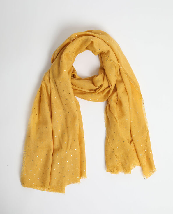 Lichte sjaal mosterdbruin