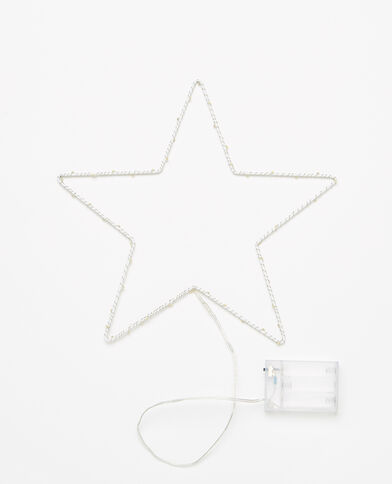 Lichtgevende ster ecru