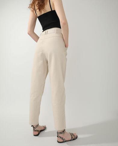 Straight-fit jeans kastanjebruin - Pimkie