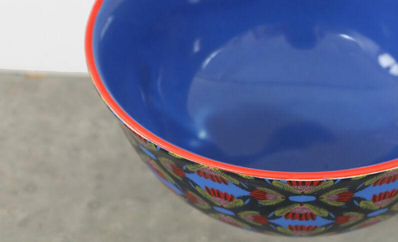 Bol en céramique bleu