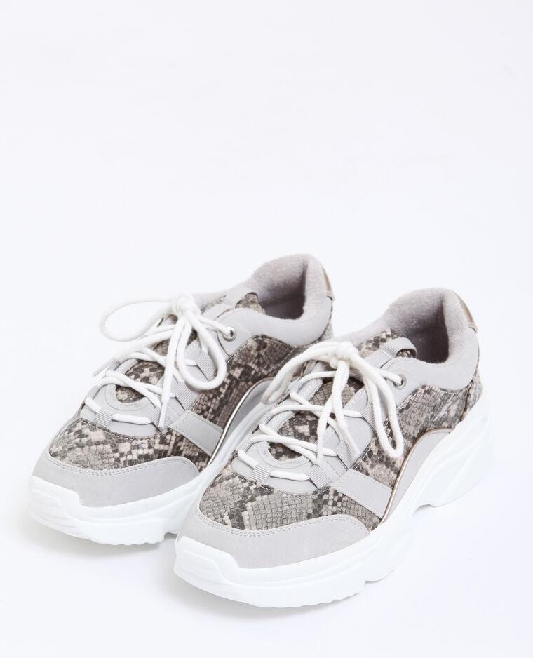 Sneakers met dikke zolen grijs
