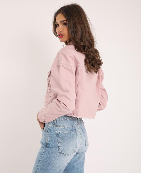 Kort jeansjasje roze