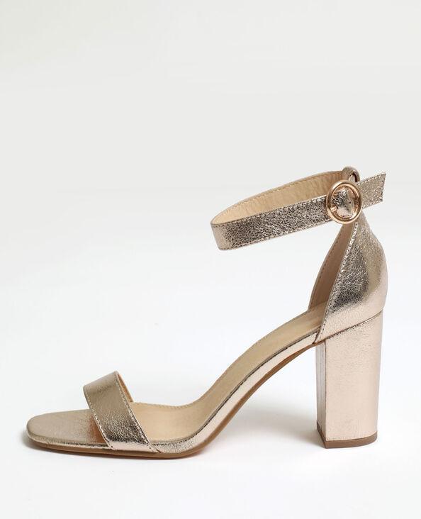 Sandalen met hoge hakken goudkleurig