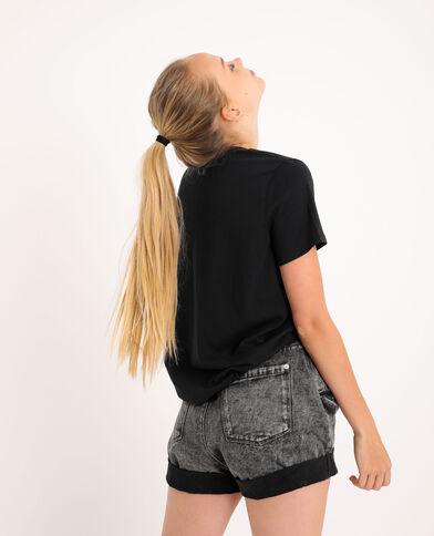 T-shirt graphique gris anthracite