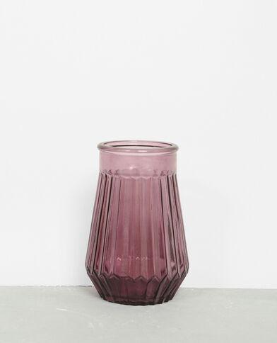 Vaas van gekleurd glas violet