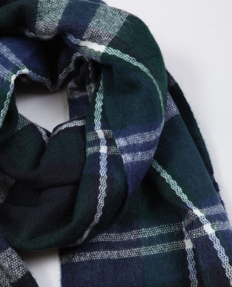Geruite sjaal blauw